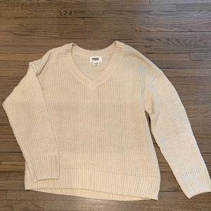 Pink boyfriend V neck sweater